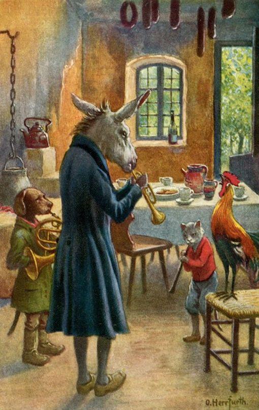 die bremer stadtmusikanten märchen original  geschichte